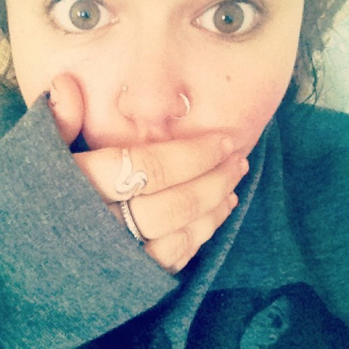 #nosering #nosestud #natural # browneyes #silver #rings (Taken with instagram)
