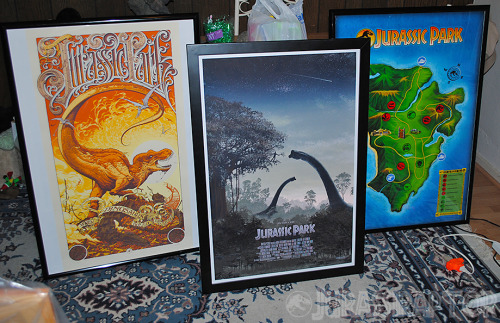 Got my posters framed, finally.  Now, to find the perfect wall space.