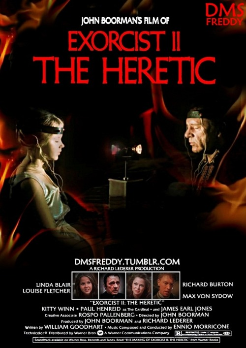 Exorcist II the heretic - Fan poster  by me