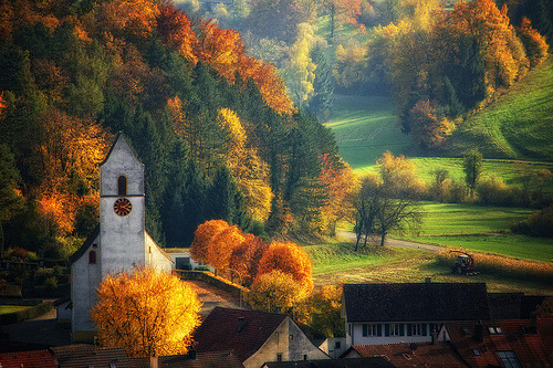 westeastsouthnorth:  Aargau, Switzerland  This looks like something Bob Ross painted. Seriously.