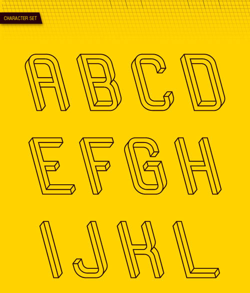 Font based on the Penrose triangle. I LOVE it!