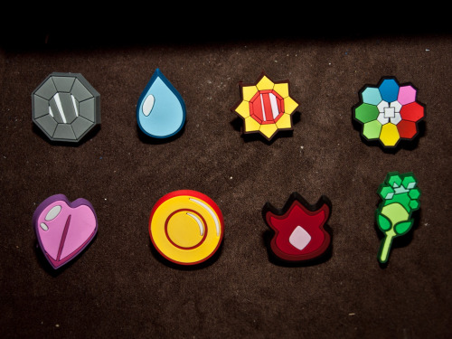 Gym Badges of Kanto PKMN World Scott Henry 2012
