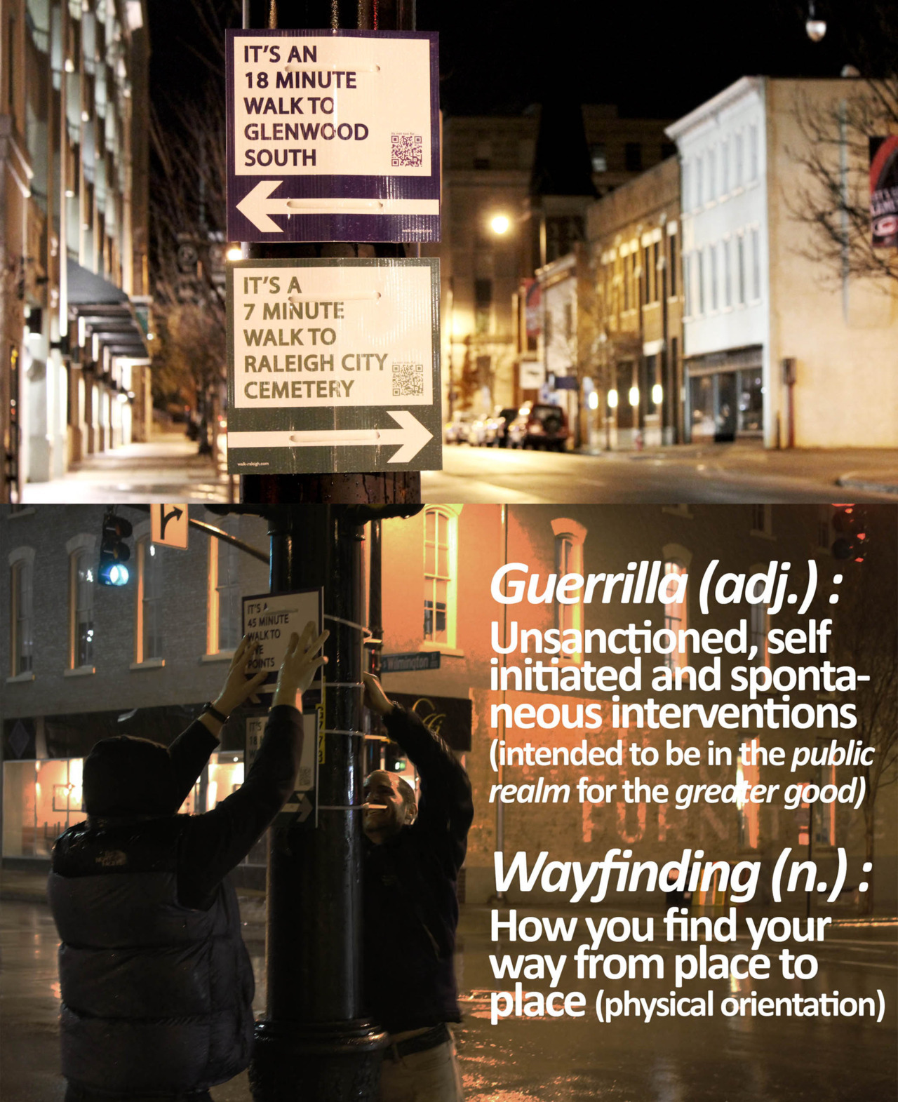 ungaretti:  Guerrilla wayfinding – walk your city