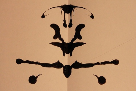 inkblotoftheday:  Inkblot of the Day #67 Instructions: Tell me what you see. Note: On the road, made with pen ink as I am away from my ink supply. -Enjoy  Some pokemon flying into battle.