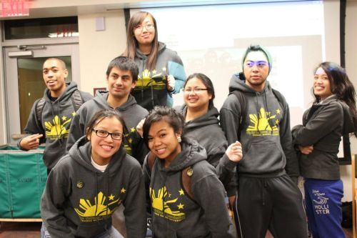 check this out! here are a few of our members all wearing our hoodies at our sushi night event a couple of weeks ago. what a coincidence that all of them were wearing the same exact hoodie at the same time! and can you spy the photobomber trying to pass their jacket for a hoodie? we can! aha. and speaking of which, thank you to everyone who came out and supported our sushi night! hosted by our very own d6 rep amira mendoza! all proceeds went towards accomodations for our members that were going to FINDinc Conference at Drexel University two weeks ago.