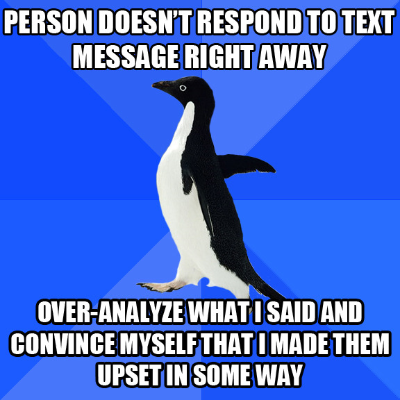 Facebook messages. Tweets. Texts. Whatever… Every single time.