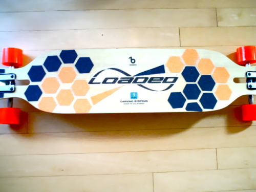my custom grip tape for my loaded board. hang loose. ;)  submission from ashleikim