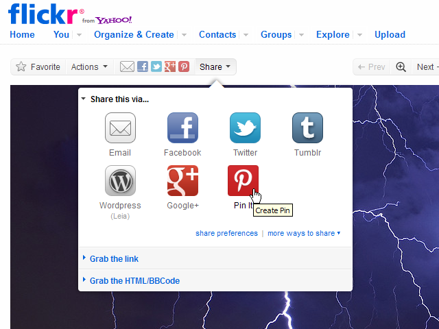 Flickr Pinterest userscript