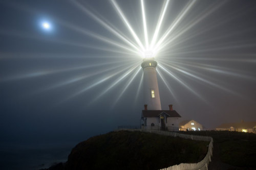 n-a-s-a:  Moon Over Pigeon Point Lighthouse  Credit & Copyright: Tyler Westcott