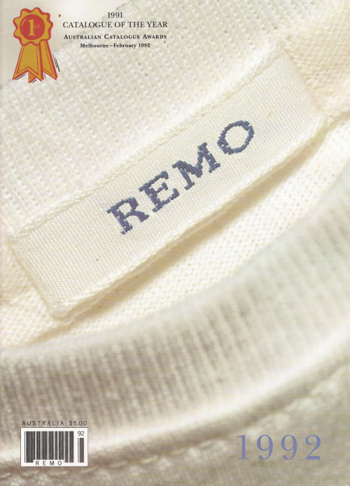 "REMO Catalogues | 1989 to 2005 REMO Catalogues won many international awards for design and creativity. The copywriting for the 1991 Catalogue was nominated as the ""Best in the World"" by US Catalog Age magazine."
