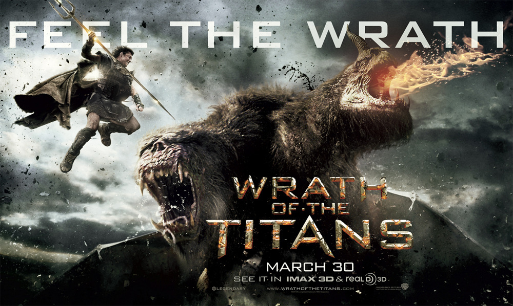 "Wrath Of The Titans (2012) - Directed By Jonathan Liebesman - Rating: 2/5 I haven't seen the first installment of the series, ""Clash Of The Titans"" (after hearing how bad it was, I tried to avoid it). However, now that the sequel is out, and it was reviewed as being better than the first (at least the 3D effects anyway) I decided to check it out. From the start it really doesn't matter if you've seen the first one or not. The characters are consistently reminding the audience that Perseus is the great Kraken slayer. Early on there is also a little backstory given about Perseus through ""casual"" conversation about his wife, and child, so you're caught up on all the important things that have happened. As an action film it's not bad, and it doesn't take long for things to begin exploding and for people to run for their lives. The movie could have spent a lot more time developing the cookie cutter characters into something more relatable. There are a lot of relationships that we are supposed to care about, Perseus and his son, Perseus and Zeus, Perseus and the Queen, just to name a few, but not enough time was given to develop each relationship to make the final outcome of the film matter. None of which is more painful to sit through then the relationship between Hades and Zeus. Essentially, Hades was sent by Zeus to look after the underworld and you get the sense that Hades has a lot of pent of resentment about that. Amazingly, all it takes to turn Hades frown upside down is basically one sentence from Zeus to make him forget all about the last thousand years or so he's been in the underworld. The CGI effects are pretty good as the movie heavily relies on it's big, over the top action sequences. The movie keeps upping the ante every time there's an action scene, until the very end where there's basically a cluster fuck of CGI fireballs and explosions in your face. Again, it would be cool to see all that if it meant something to the audience in wanting to see the main characters succeed. You could have all the money in the world to buy the best computer generated images of monsters and aliens, but if you don't have a solid story behind it, the end result isn't going to be very good. //post by scott Tweet"