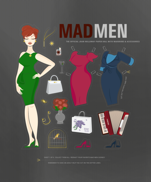 Joan, Mad Men, paper doll.