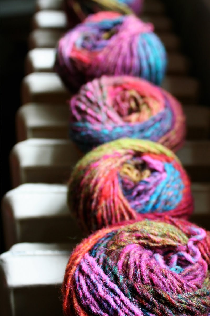 I just bought some of this awesome Noro Silk Garden Yarn from the UK.  Waiting eagerly (fingers itching) for it's arrival.  Pic found via the sam lamb blog.