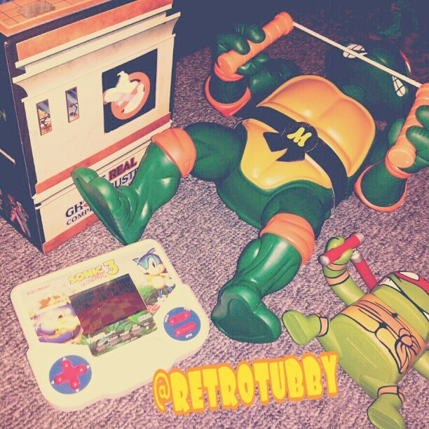 My toys. #retro #90's #oldschool #tigerelectronics #therealghostbusters (Taken with instagram)