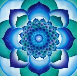 Flower of life ~ Azul Lotus Mandala