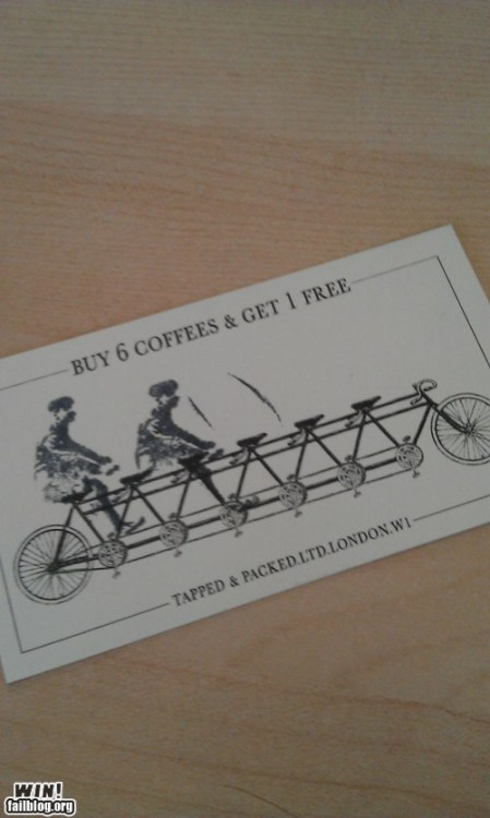 This is the best loyalty card I have ever seen!