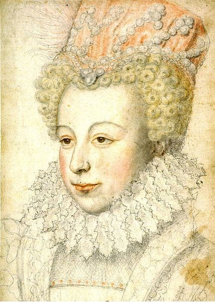 Beauty: Margaret of Valois Beholder:Unknown 'Aside from being twice a queen—first of Navarre (1572), then of France (1589), Margaret was famous for her beauty and sense of style (she was one of the most fashionable women of her time, influencing most of Europe's Royal Courts with her clothing).'-wiki