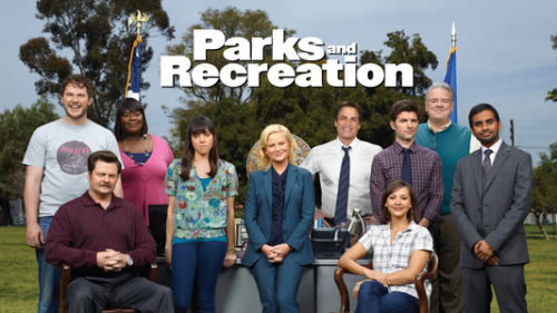 Had a marathon session with Parks and Recreation (season 4), and my face hurts a bit from smiling too much. Besides being overall very warm, friendly and very funny, there are some really touching moments that make me realize how much I'm invested in the series. Moments that were romantic without being sappy, and sad without the irony or comedic relief. There's a solid narrative structure to it that has spanned over the series' length, and rather than going stagnant or desperate with show ideas in the later seasons, P & R is always moving forward. It has this progressive energy to it that I don't see in other shows, the cast of characters becoming more of a family than just odd couplings in increasingly awkward situations for quick laughs.  In contrast, it seems typical of other comedies to combine embarrassment and wit, featuring plots where there's always a growing problem they're steering to avoid. Likable yet miserable characters. (Schadenfreude?) I laugh at these, but I never feel good, if anything, afterwards. I believe the core of these other comedies seems more or less based around fear, whereas the core of Parks & Rec is absolutely based around love.