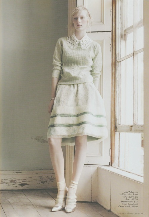 the-front-row:  Julia Nobis in Harper's Bazaar Australia May 2012