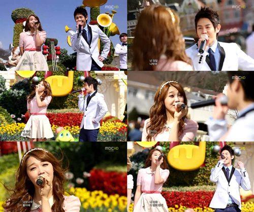 """[O7.O4.12] Eunji & Yoseob ,al igual que las parejas, comparten miradas profundas durante """"Love Day"""" Tumblr_m27lp4jwdF1qkawyv"""
