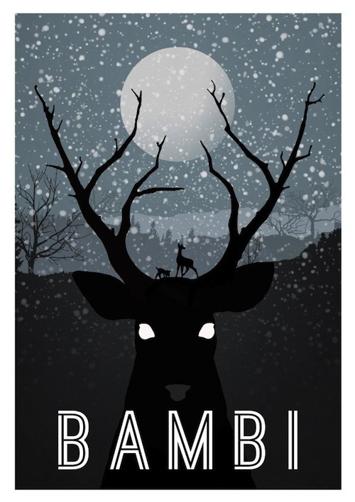 "Yup, this is pretty much the way I felt when I saw ""Bambi"" for the first time as a tiny girl. Via Design Taxi."