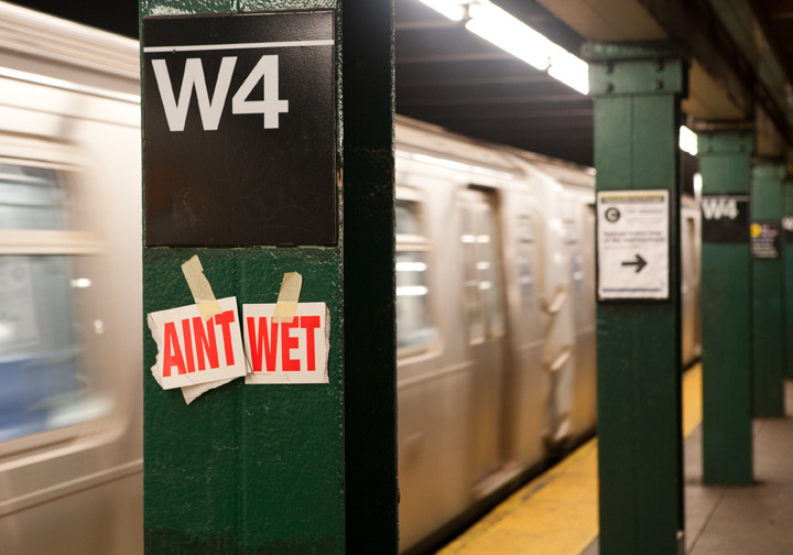 Ain't Wet, W. 4th St. Station, Greenwich Village