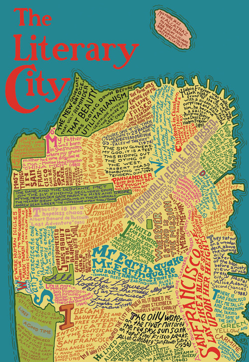 The Literary City (via Explore)