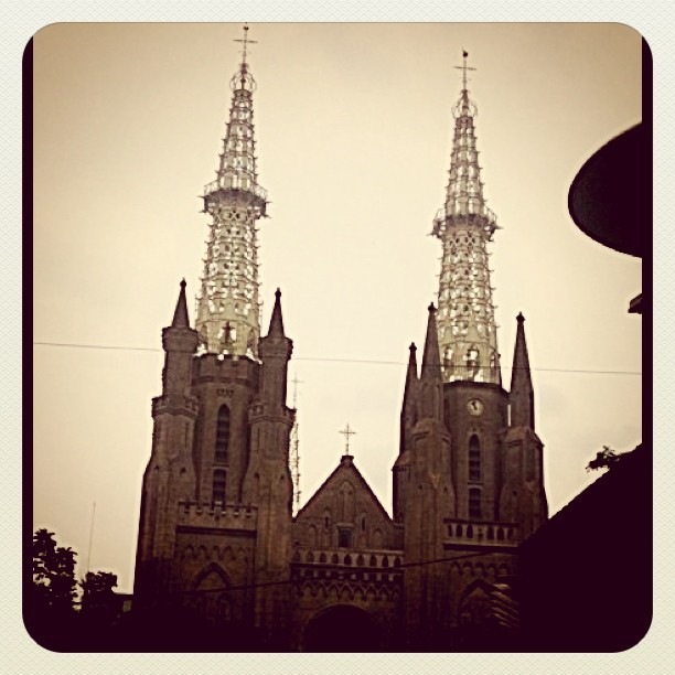 #katedral #church #jakarta on #easter  #iphonesia #instagram #IGers (Taken with instagram)