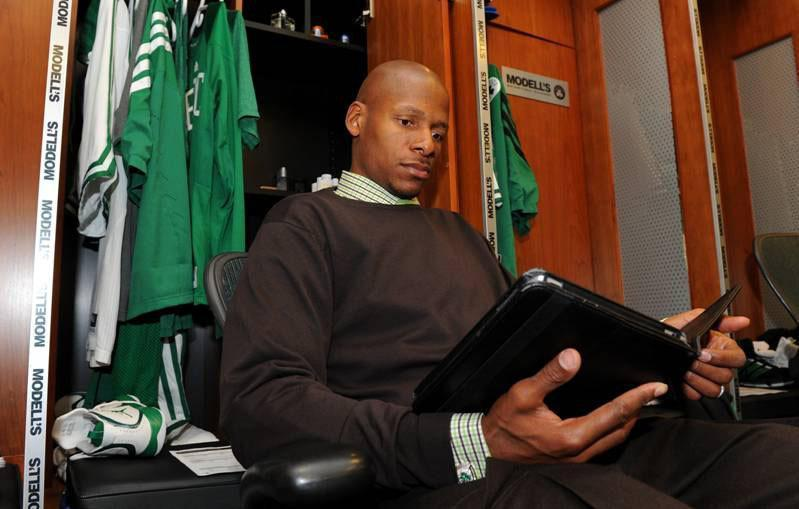 Ray Allen shares his love of books  - The Celtics guard uses the pleasures of a good book to ease the boredom of long road trips or soothe a particularly bad loss.