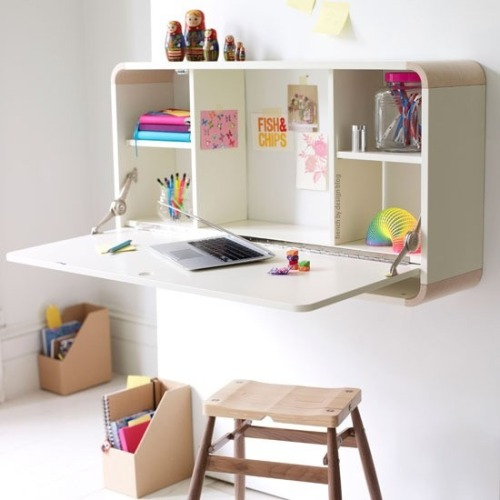 myidealhome:  compact desk (via French By Design)