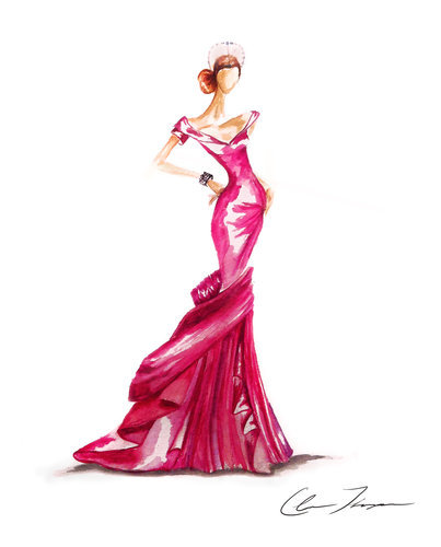 Illustration on Dripbook : : Claire Ashley | Fashion Watercolor Illustrations | Palo Alto, CA, US