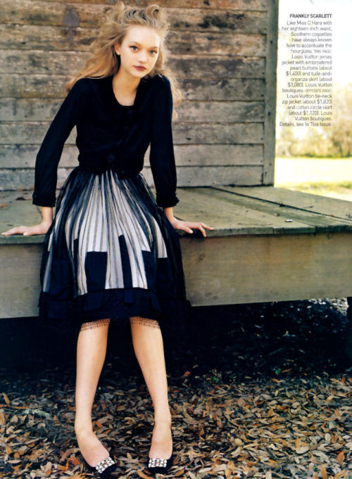 """Belle South"" Gemma Ward by Arthur Elgort for Vogue US June 2004"