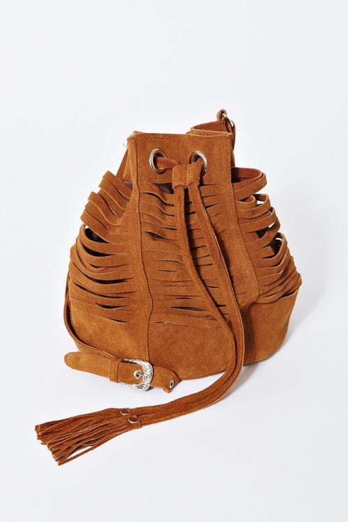 I really like this shredded suede bucket bag, but I just don't know how practical it is for actually holding belongings…