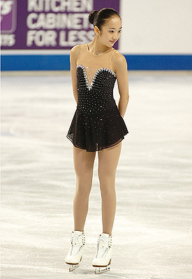 Lauren Dinh competing in the 2011 Junior US Nationals. Photo by Leah Adams.