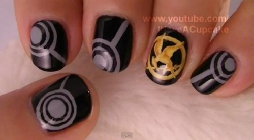 Cute Hunger Games nails!