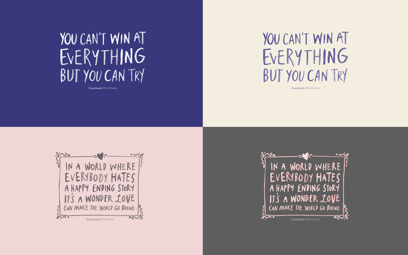 cjdesilva:  NEW ERASERHEADS-INSPIRED WALLPAPERS: WITH A SMILE I'm giving them away for free! But first, help me complete my first year anniversary gift for Wincy. Here's how: 1. Download the jpeg template I made. Here's the link to the template and the font!2. Fill in the template why you think Wincy Ong is awesome.3. It should look like this:  4. E-mail to iamcjdesilva@gmail.com with the subject: AWESOME 5. Once you've submitted your entry, I will reply with the WITH A SMILE wallpaper set. To those who have submitted entries, I sincerely thank all of you. You've been such an awesome help! But hey, you can still send in multiple entries! Thanks so much. :) Love, Cj