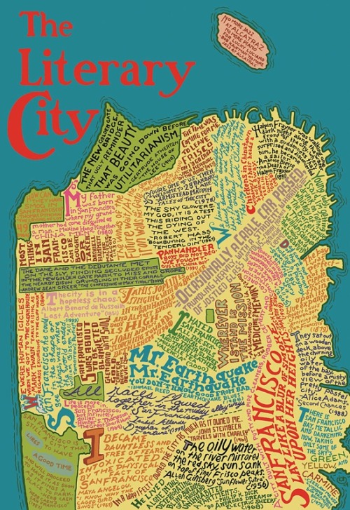 crownpublishing:  We love literary maps. So when we came across this map of San Francisco in the archives of Laughing Squid we just had to share.  (via Literary Map of San Francisco)