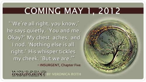 epicreads:  INSURGENT TEASER! #DivergentNation Chapter Five quote. 22 days until #Insurgent by @VeronicaRoth hits stores!