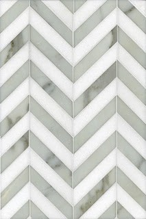Modern tile in Chevron (Grey)