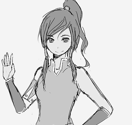 saizos:  Just thought I'd draw Korra a bit :D