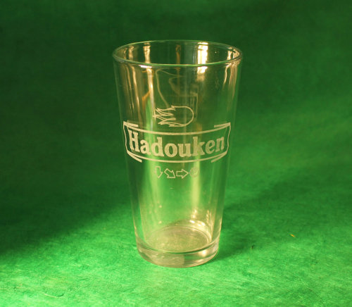 Hadouken Pint Glasscreated by DangerAwesomeLasers - $20