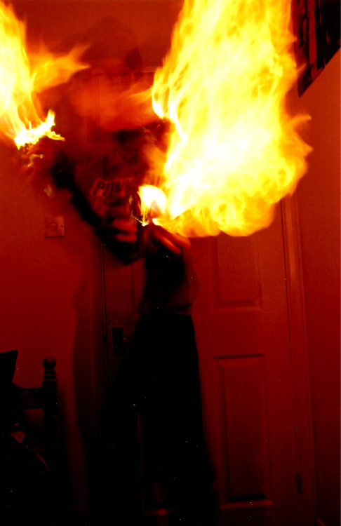 Flame thrower.