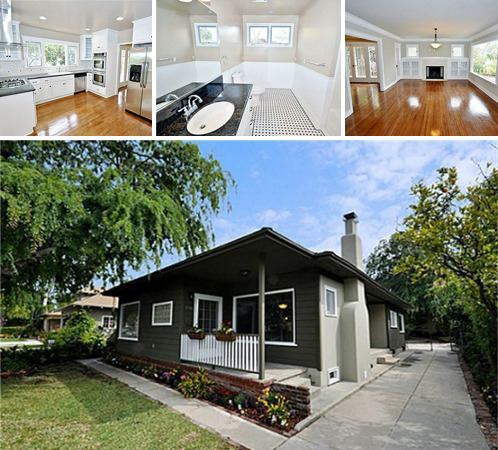 This listing in Pasadena, California has two homes on the same lot. The two Craftsman cottages have been completely upgraded with new copper plumbing, new appliances and more. The property features mature fruit trees and each home has a private courtyard, one with an additional grassy yard. These homes are listed with Realtor Adam Brett for $974,800.