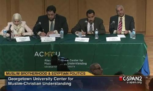 "Despite their rhetoric, is there any reason to believe the Muslim Brotherhood are not radicals and theocrats? ""Later, when pressed on the role of women at Georgetown by a liberal Egyptian activist, Asem said, ""We are … working to improve the situation of women in society, getting to the root causes of the problem of the marginalization of women."" It remains unclear, though, how the Muslim Brotherhood's longtime opposition to legislation banning female genital mutilation, which a Brotherhood parliamentarian recently reiterated, plays into the Brotherhood's supposed concerns for women's social role. And when CNN's Brianna Keilar pressed al-Dardery on the Brotherhood's clitorectomy stance, the parliamentarian suddenly got defensive. ""The Egyptian people will decide for themselves what is good for them,"" I overheard him telling Keilar. ""It is not acceptable for anyone to tell the Egyptian people how to think this way or the other way."" Al-Dardery's insistence on Egypt's sovereign right to circumcise women was, perhaps, his most honest remark of the trip."" - Eric Trager, The Muslim Brotherhood's Mendacious Charm Campaign in Washington Photo courtesy of POMED"