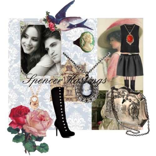 Spencer Hastings by sammie2013 featuring victorian costume jewelry