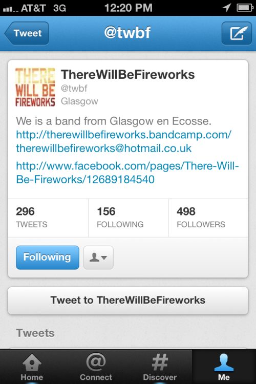 Follow the band on Twitter if you don't already!
