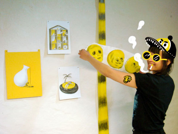 This is me putting up my work for the exhibition at Fumetto Comix Festival in Luzern, Switzerland.