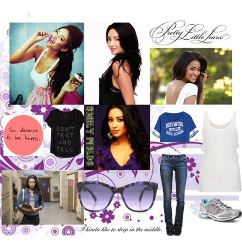 Emily Fields by sammie2013 featuring shine shoes