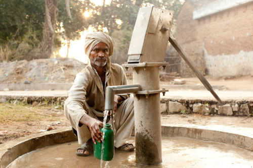 A man is able to get clean water near his home because of trained local mechanics who maintain the community well.  The Adventure Project is committed to ensuring that such sustainable clean water access is available to even more people in rural India.  Learn more at www.theadventureproject.org.