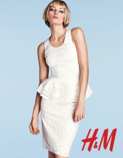 peplum by bum! id totally wear this Louis Vuitton ripoff by H&M